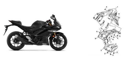 Recall Advertising - YZF-R3 Non-Compliant Reflector
